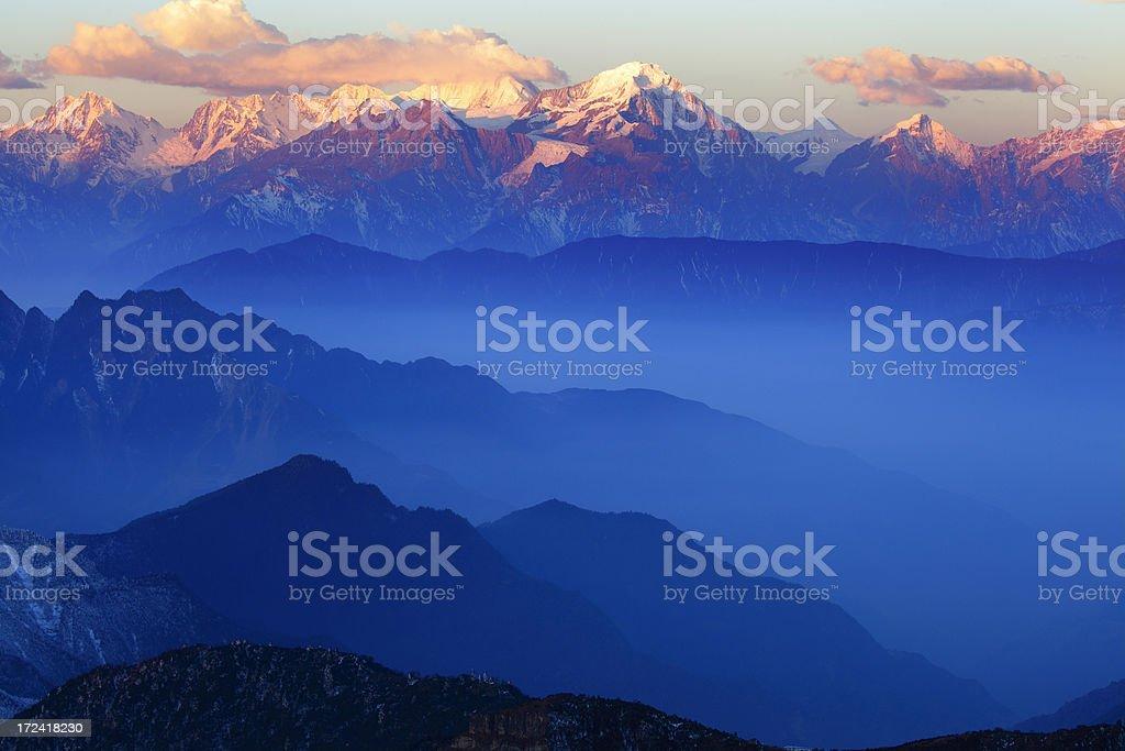 Gonggar Mountains at Dawn royalty-free stock photo