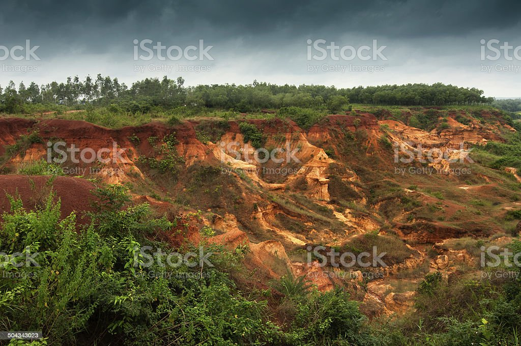 gongoni, 'grand canyon' of west bengal, India stock photo