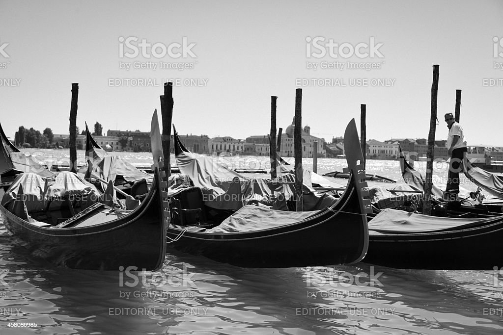 Gonodas in Venice royalty-free stock photo