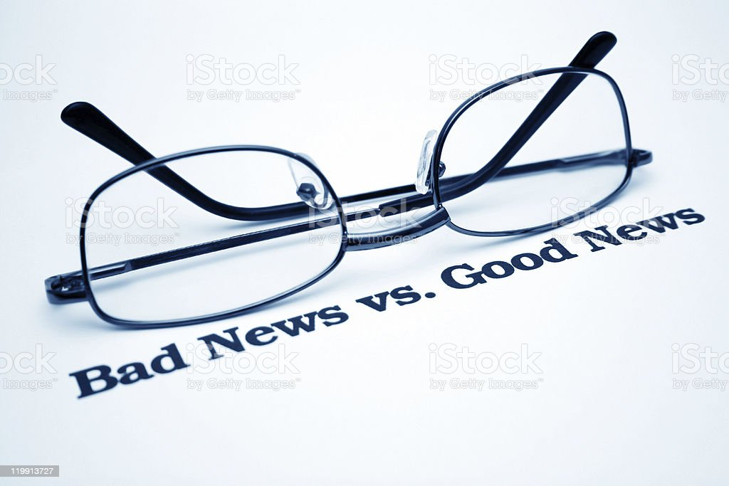 Good and bad news royalty-free stock photo