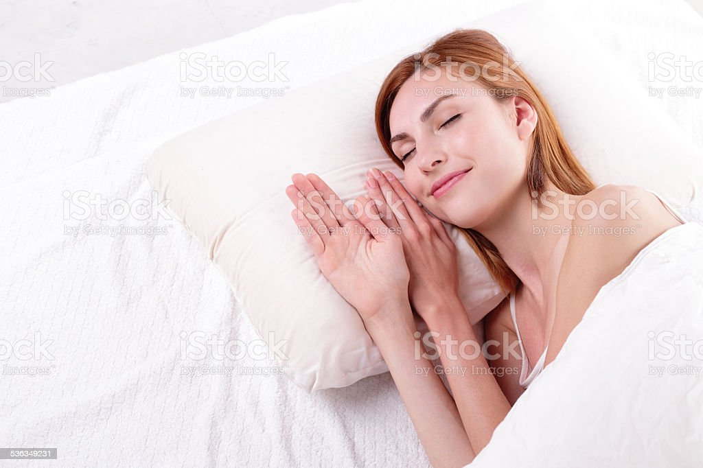 Good and health sleep stock photo