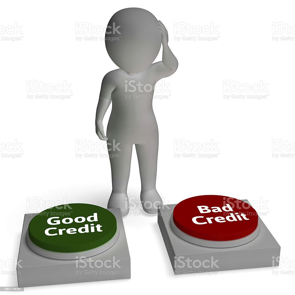 Good Bad Credit Shows Rating stock photo