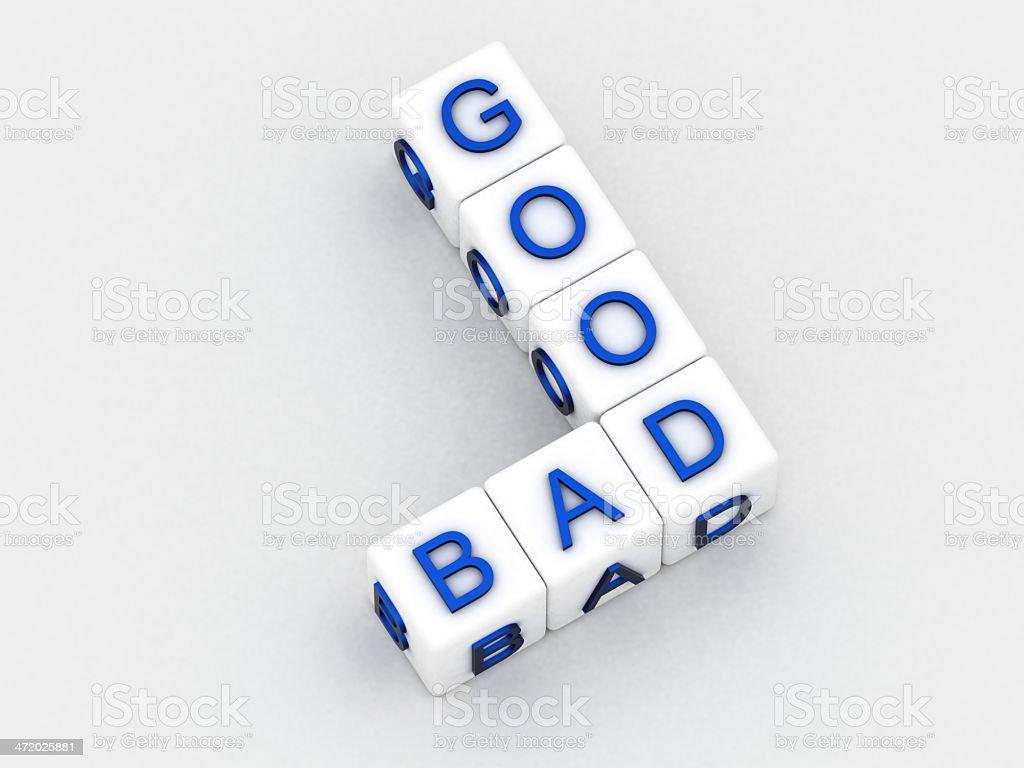 Good bad stock photo