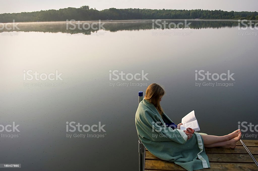 good book at sunrise royalty-free stock photo