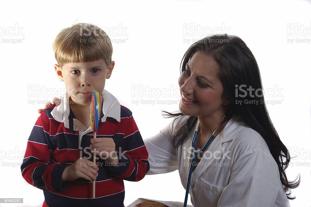 Good boys get lollipops stock photo