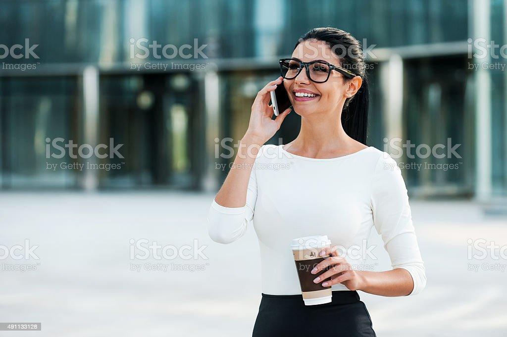 Good business talk. stock photo