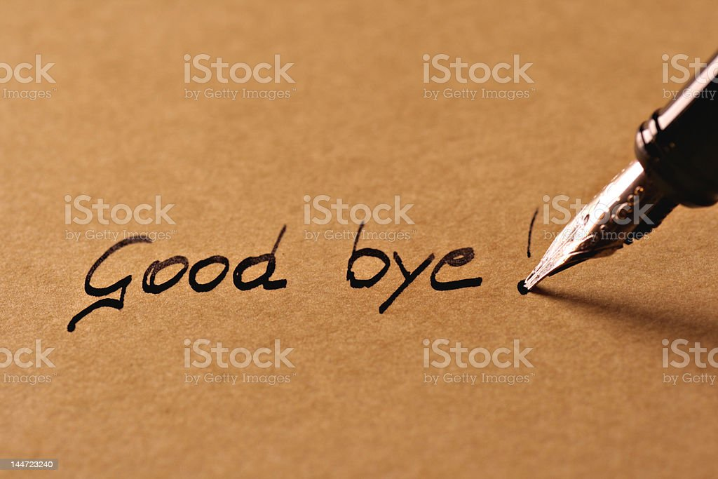 Good bye! stock photo