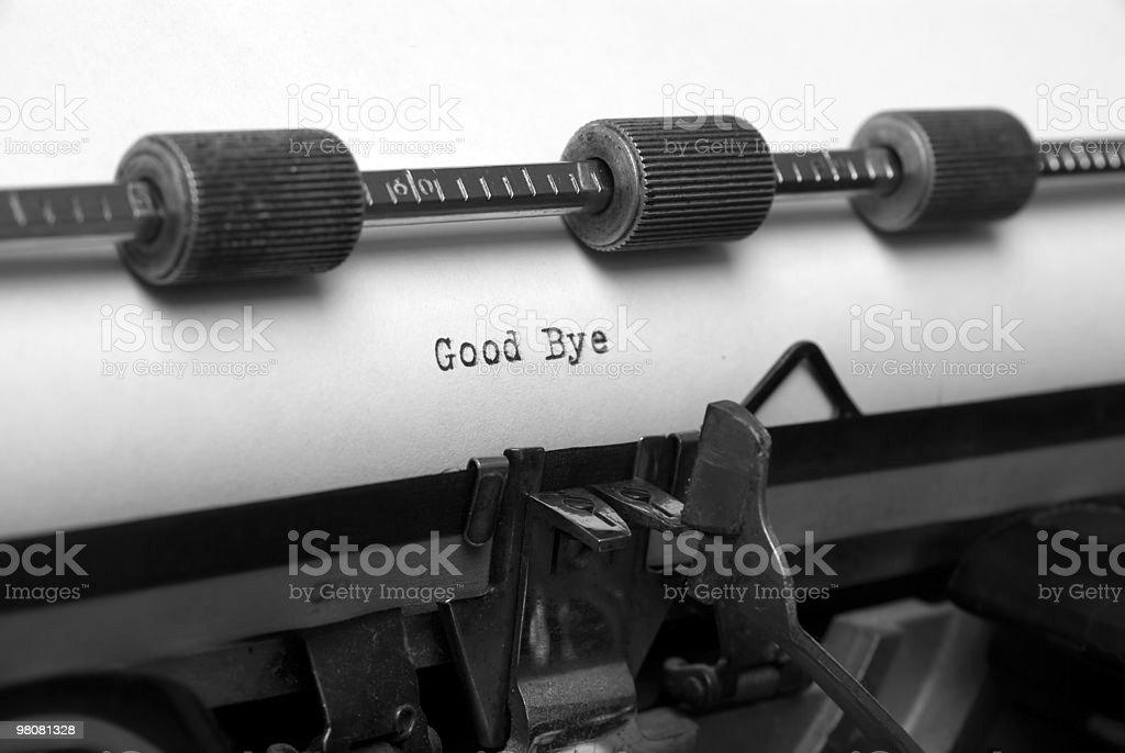 good bye stock photo
