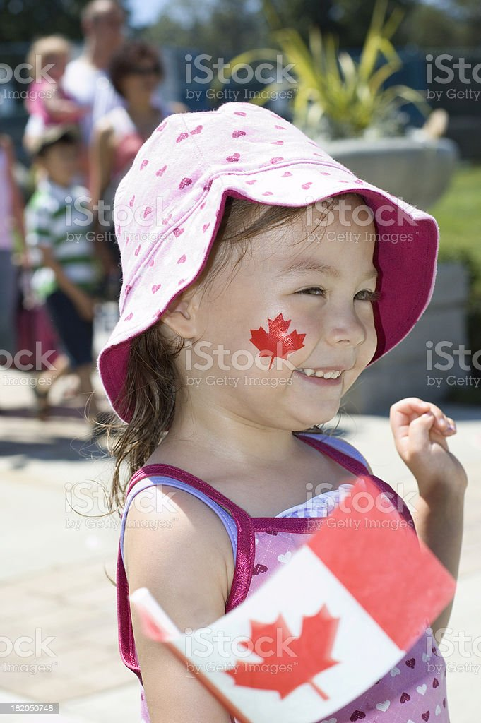 Good Canadian Kid There royalty-free stock photo