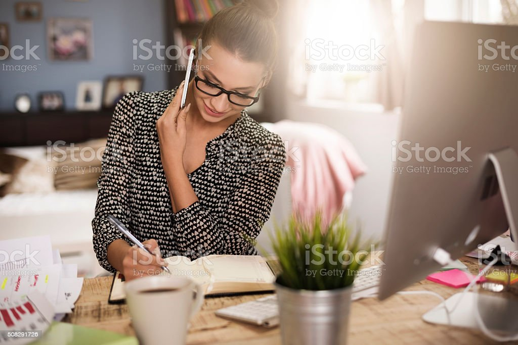 Good communication with a client stock photo