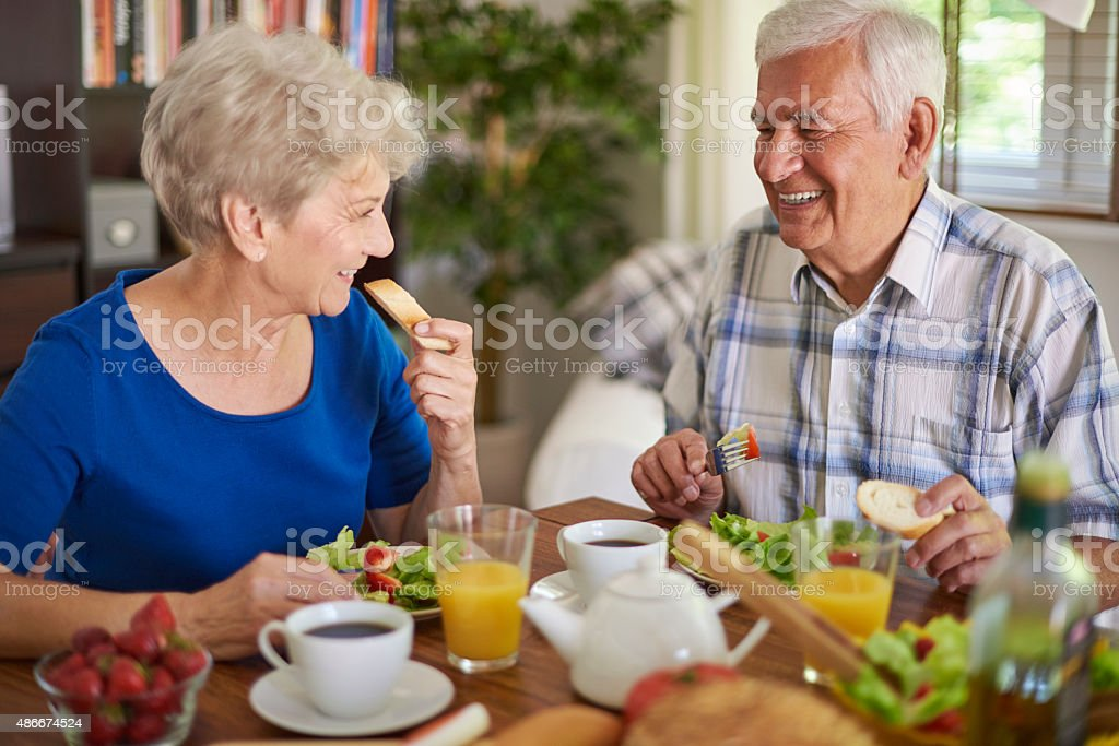 Good companion makes this breakfast more tasty stock photo