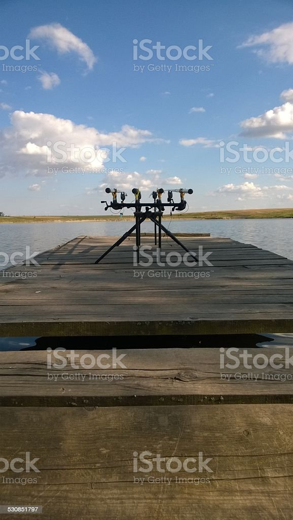 Good day for fishing royalty-free stock photo