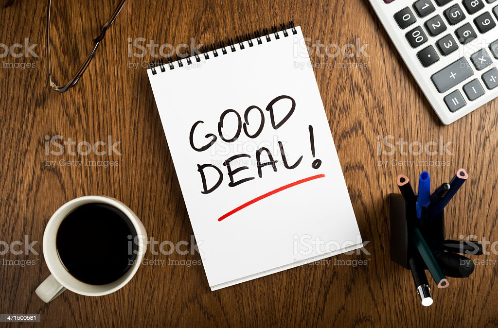 good deal royalty-free stock photo