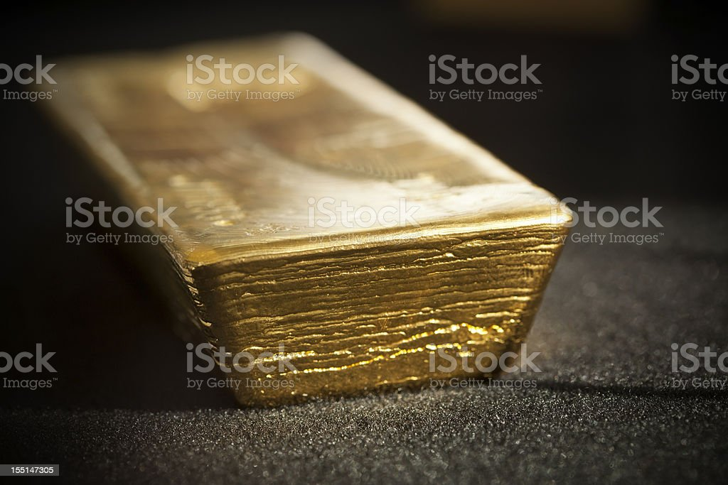 Good Delivery gold bar stock photo