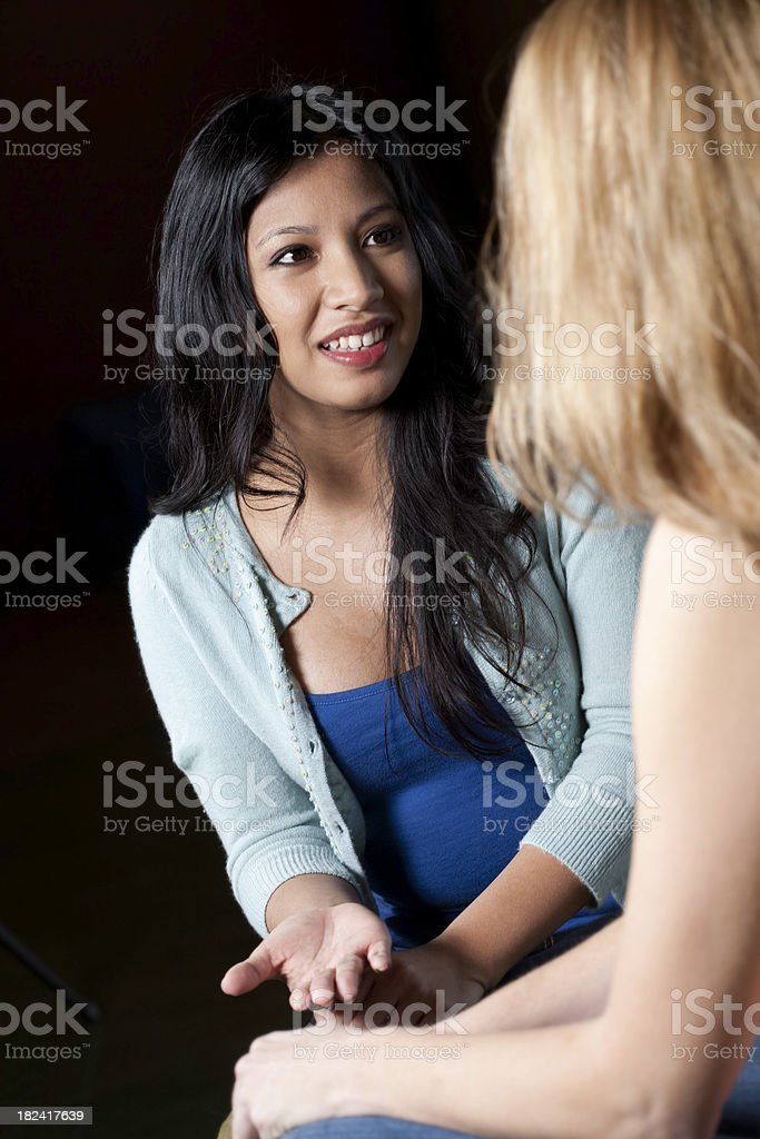 Good Female Friends Talking To Each Other royalty-free stock photo