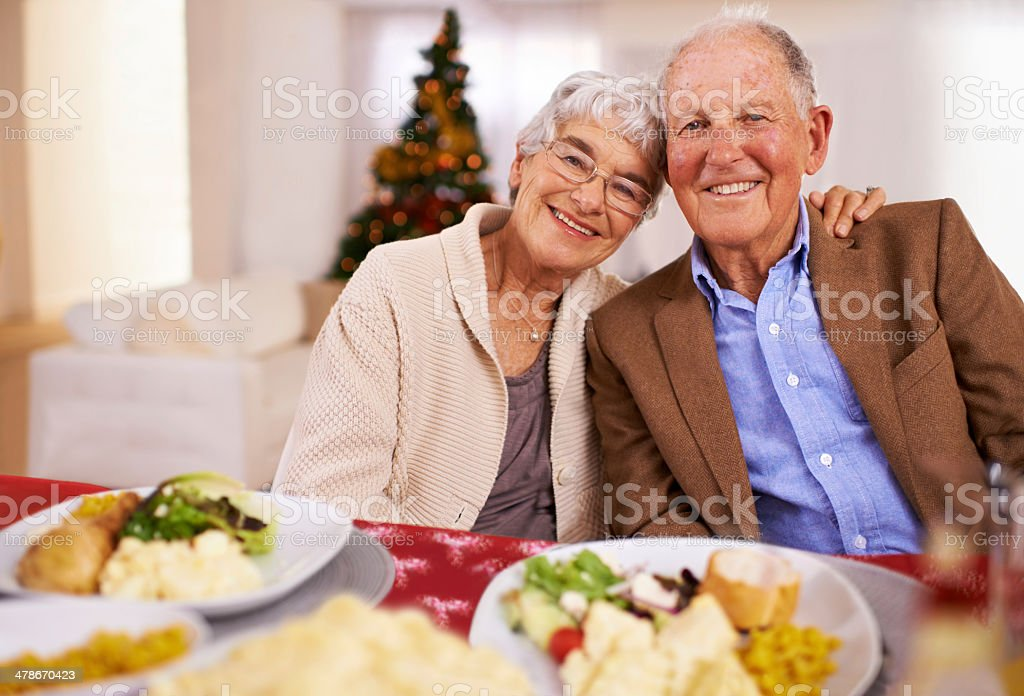 Good food and even better company! royalty-free stock photo
