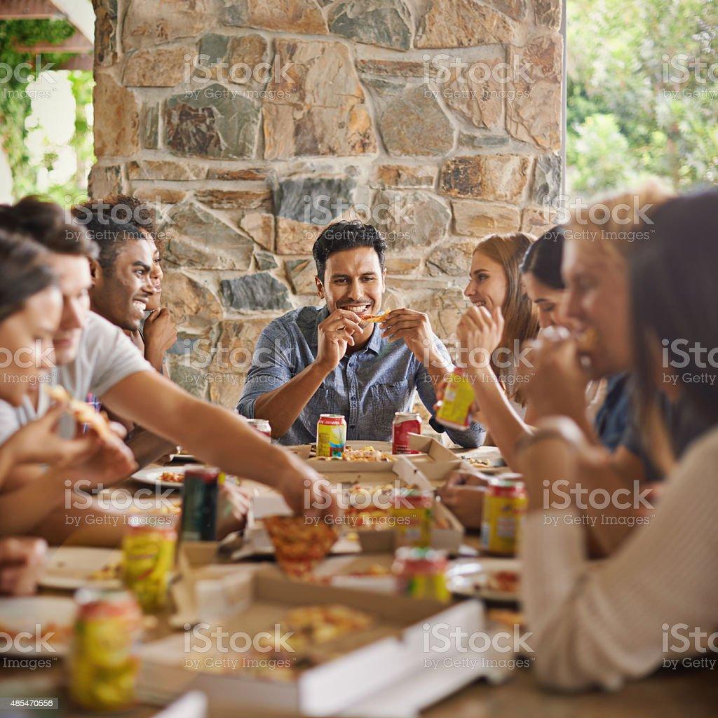 Good food, great company stock photo