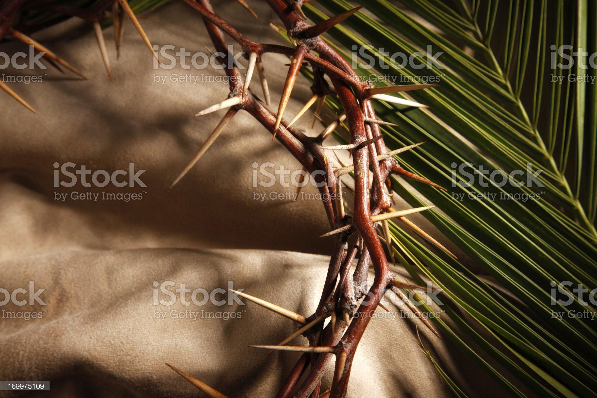 Good Friday and Palm Sunday royalty-free stock photo