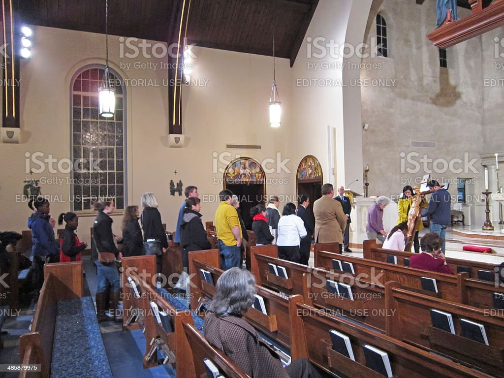 Good Friday Church Service stock photo