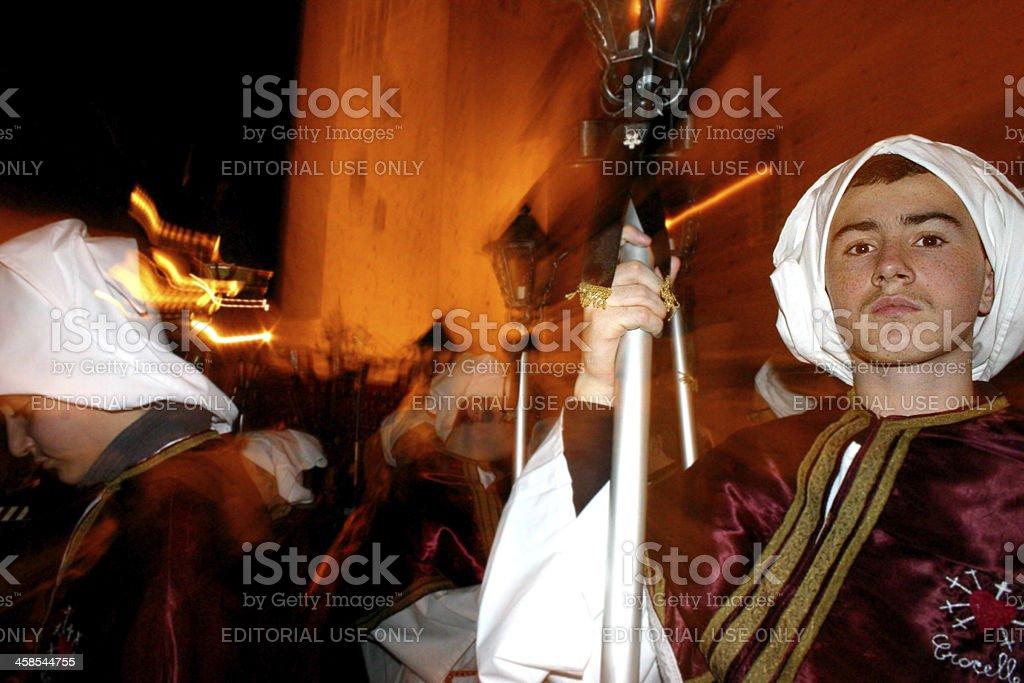 Good Friday Procession at Chieti stock photo