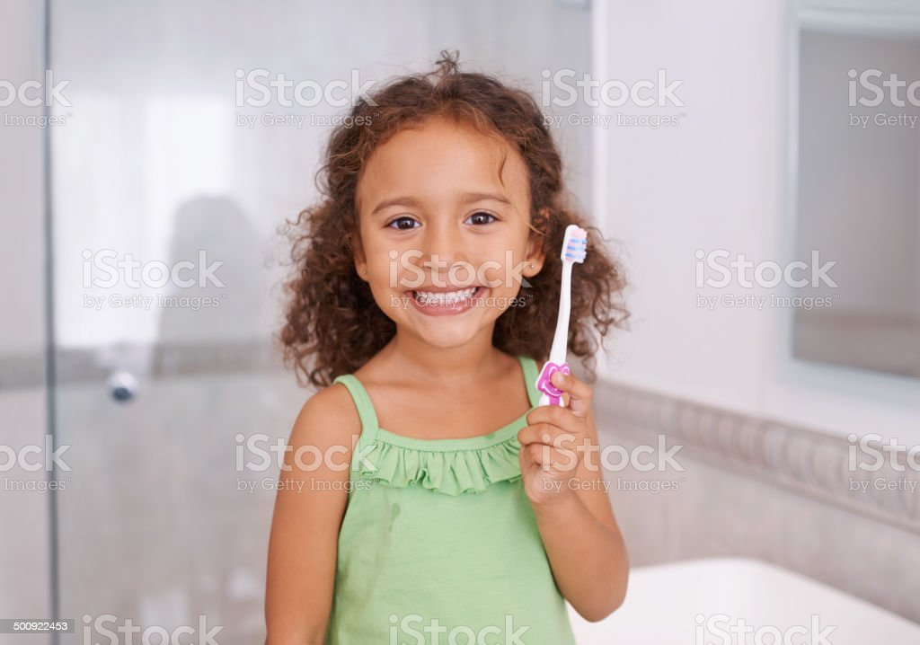Good habits start when you're young stock photo