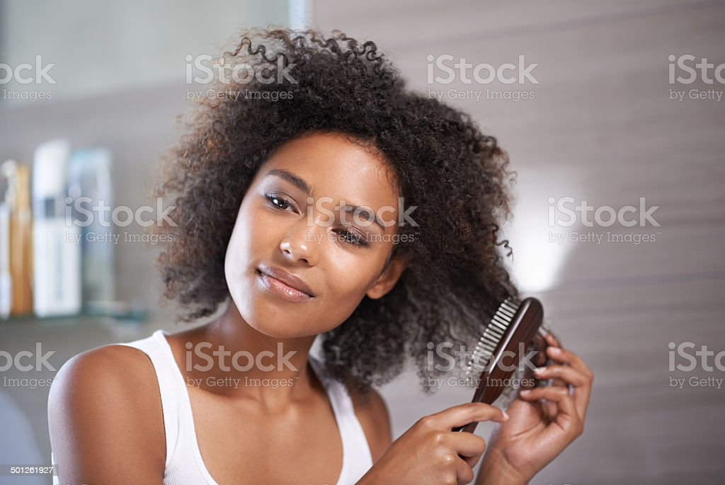 Good haircare is my number one priority stock photo