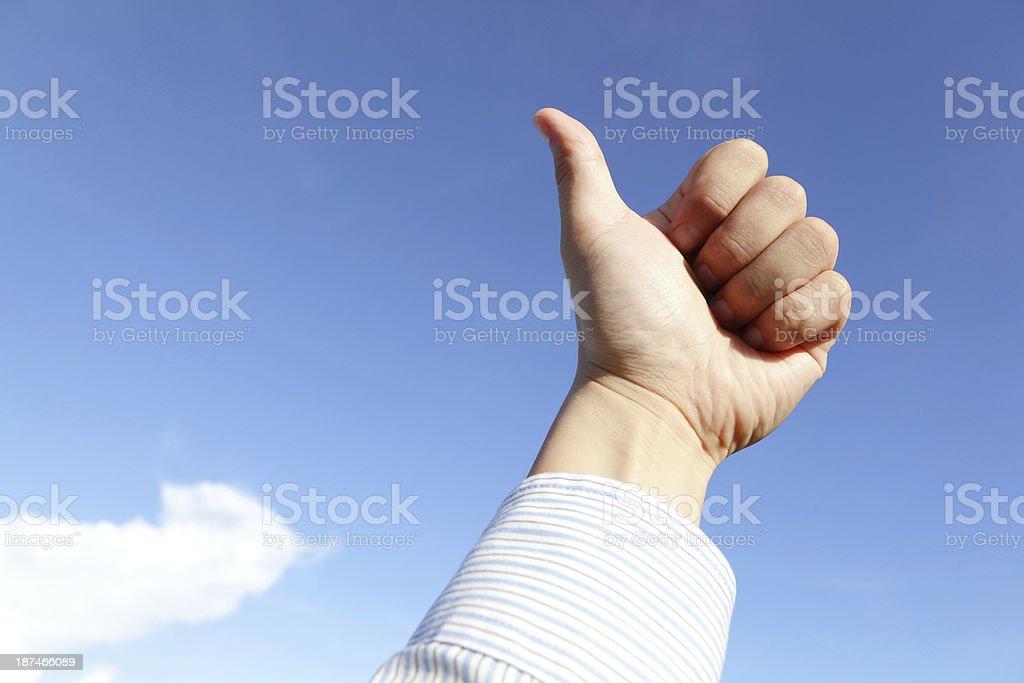 good hand gesture royalty-free stock photo