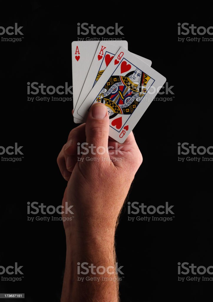 Good Hand in Cards royalty-free stock photo