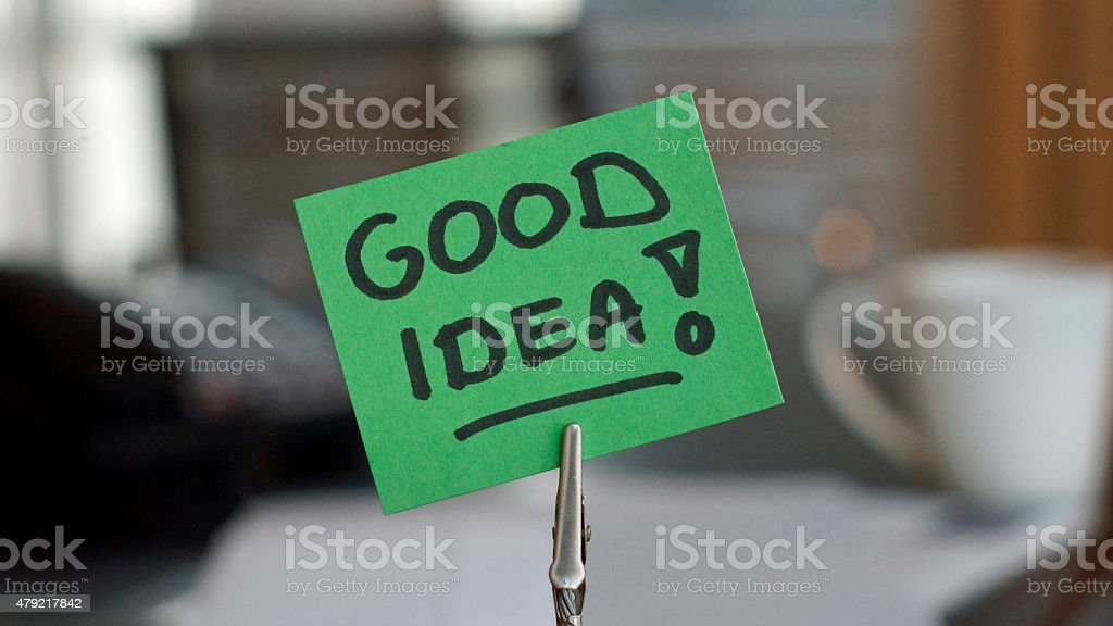 Good idea stock photo
