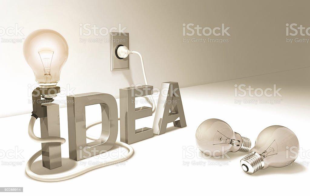 Good Idea (Light Bulb) royalty-free stock photo