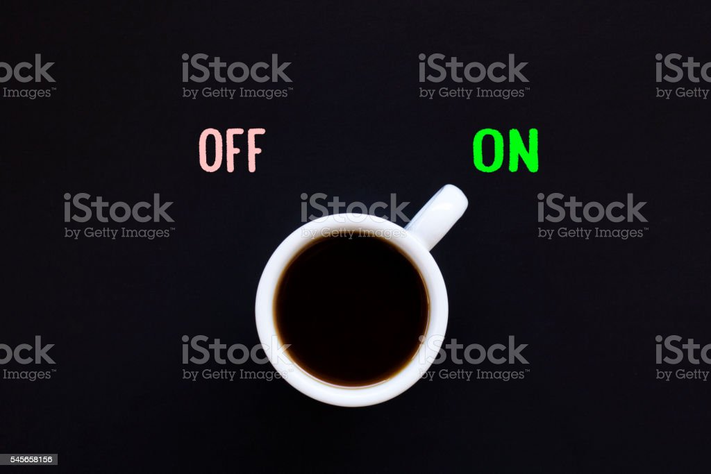 Good ideas start with great coffee. Cup of coffee stock photo