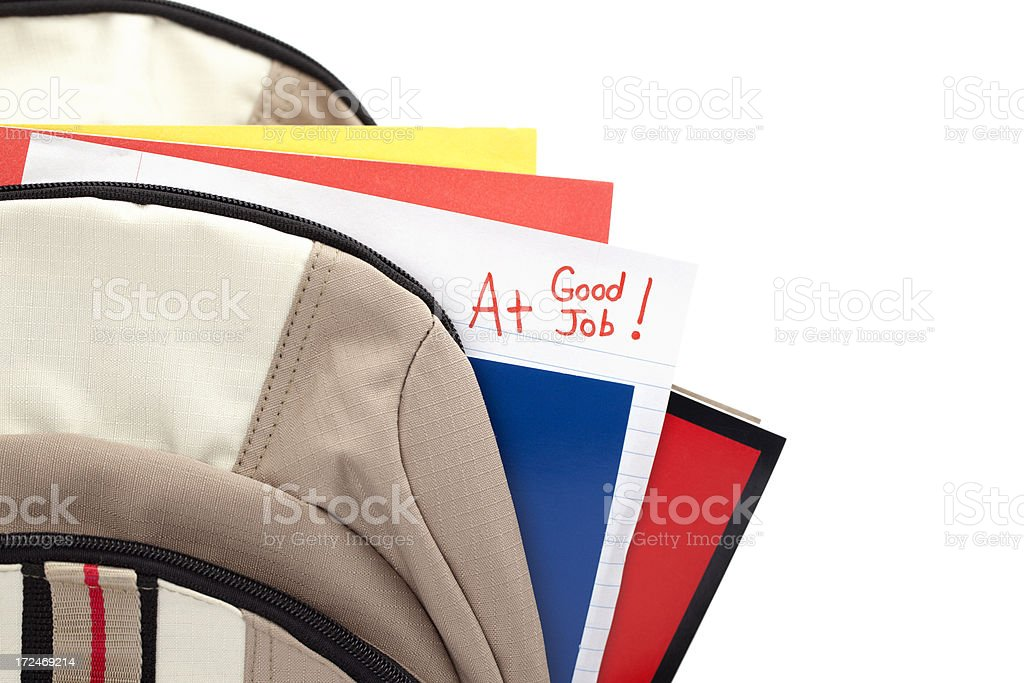 Good Job and A+ on Homework or Test Paper royalty-free stock photo