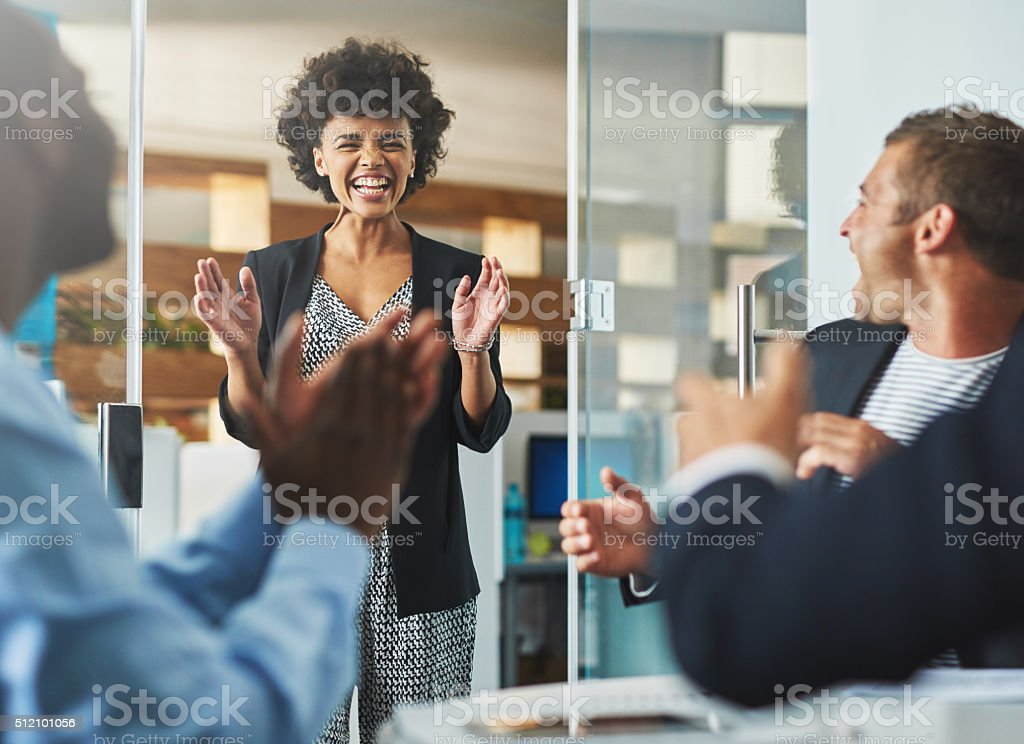 Good job, great colleagues stock photo
