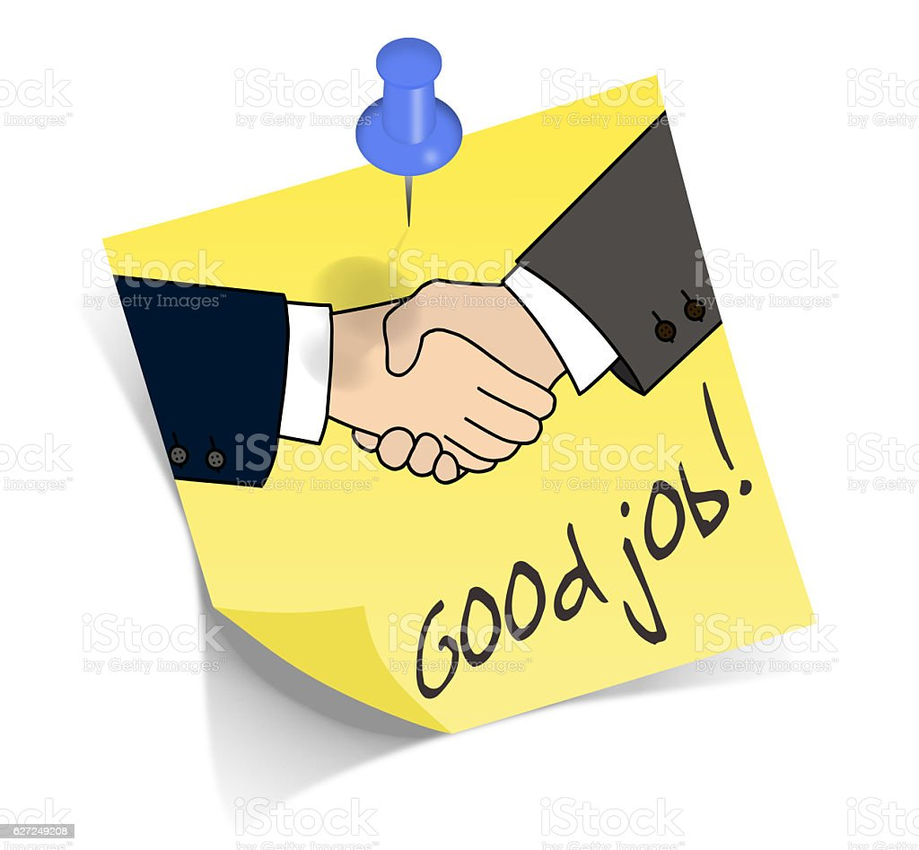 Good job handshake stock photo