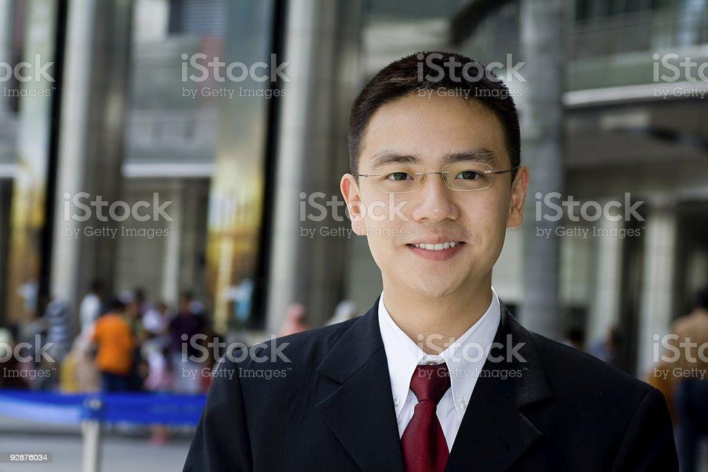 Good looking asian business man stock photo