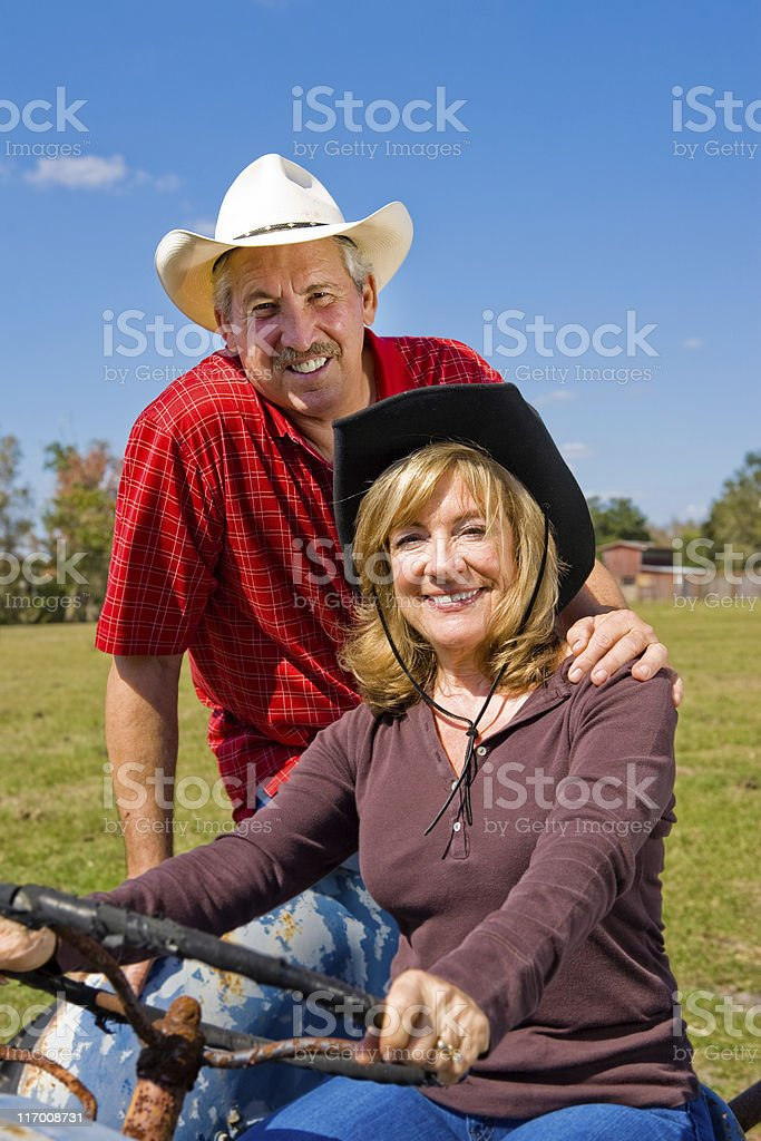 Good Looking Farm Couple stock photo