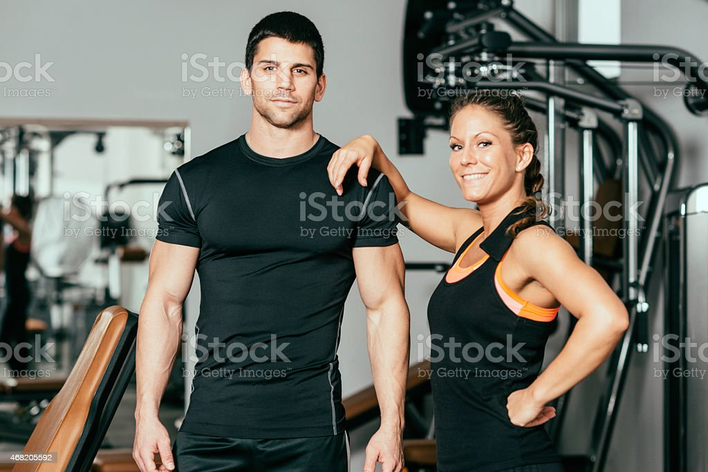 Good looking fitness Instructors stock photo
