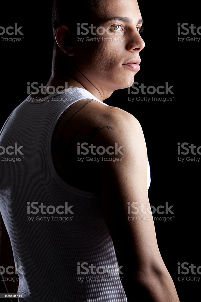 Good Looking Man on Black royalty-free stock photo