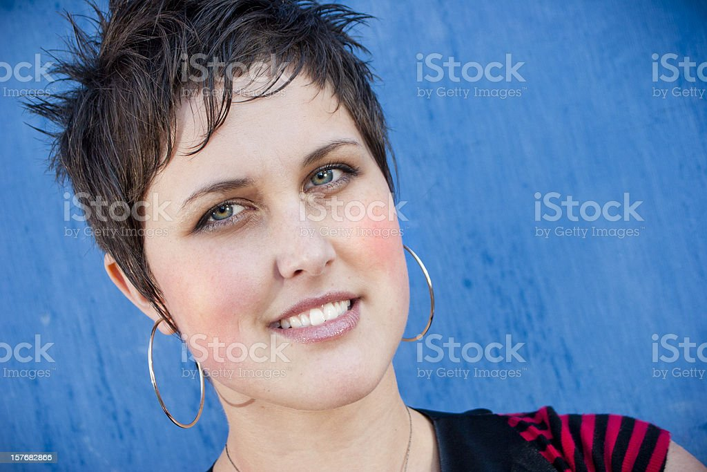 Good looking punk woman stock photo