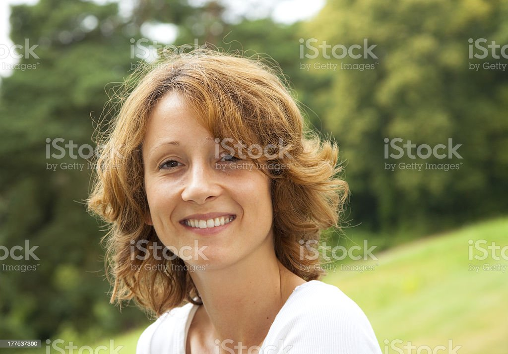 good looking young woman in a park royalty-free stock photo