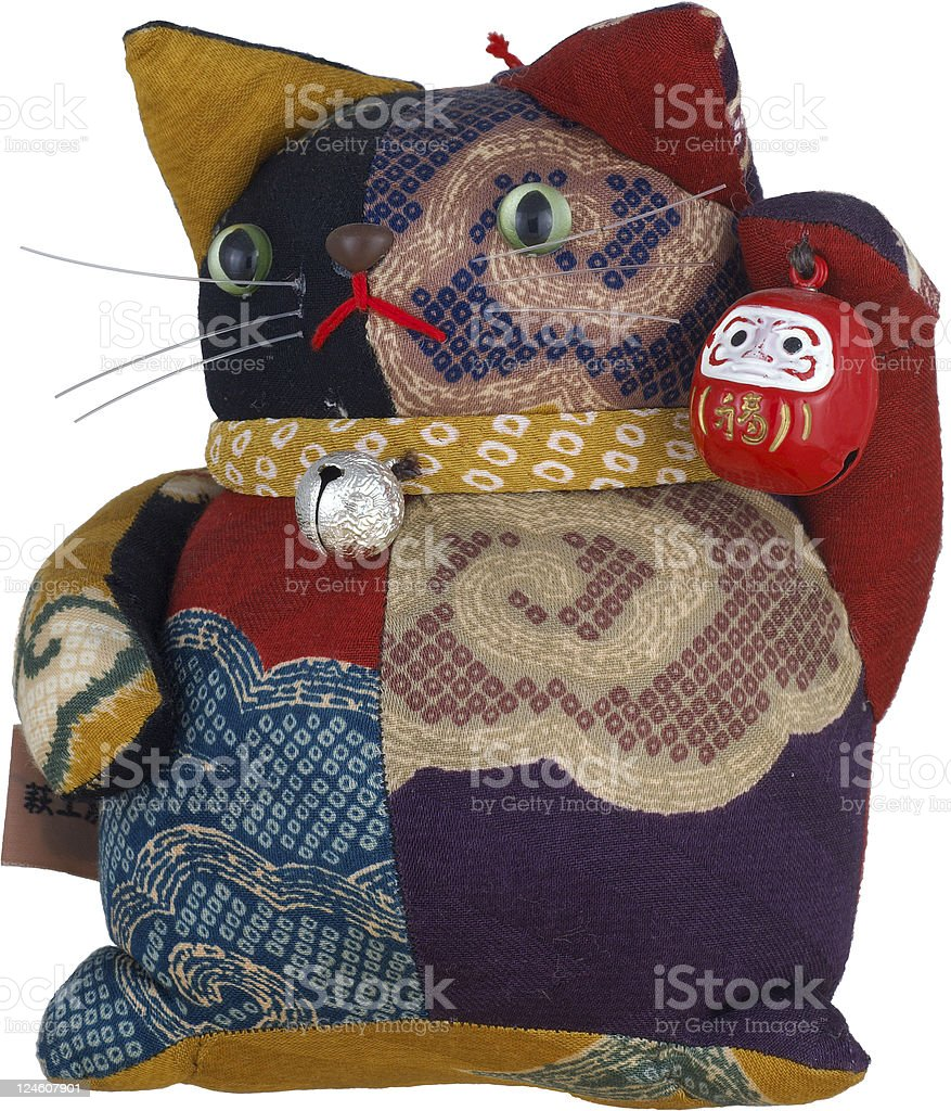 Good Luck Maneki Neko Cat Puppet stock photo
