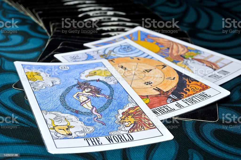 Good Luck of Tarot cards stock photo