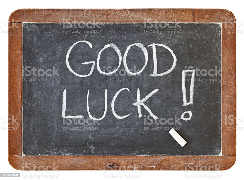 good luck on blackboard stock photo