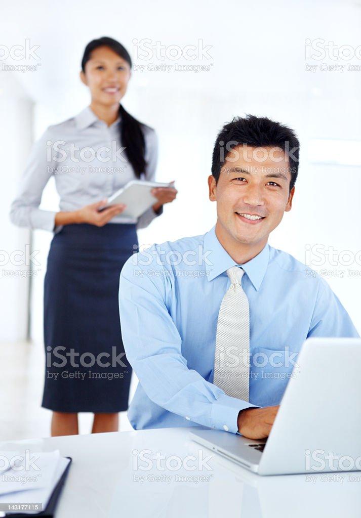 Good management ensures productivity royalty-free stock photo
