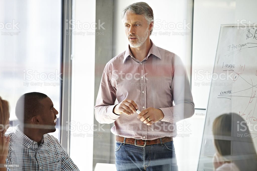Good managers don't demand respect, they earn it! royalty-free stock photo