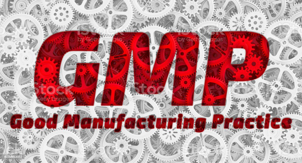 GMP. Good Manufacturing Practice stock photo