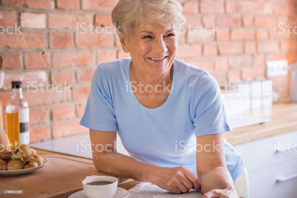 Good mood in the morning is essential stock photo