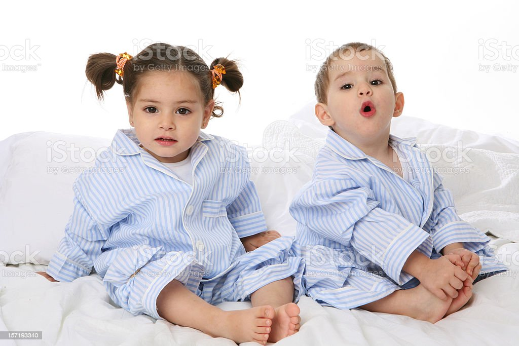 good morning and wake up mommy! stock photo