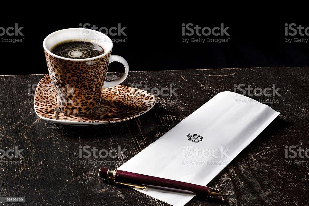 Buon giorno coffee stock photo