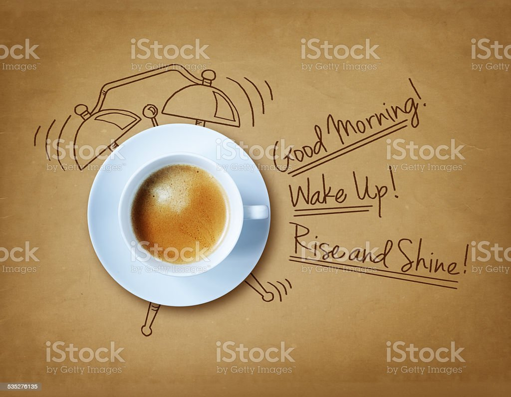 Good morning coffee stock photo